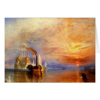 turner, j m w - the fighting téméraire tugged to h greeting card