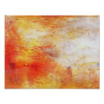 Turner Sun Setting Over A Lake Abstract Landscape Poster