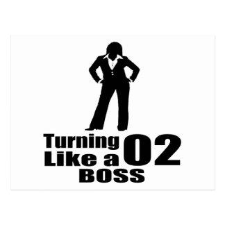 Turning 02 Like A Boss Postcard