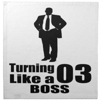 Turning 03 Like A Boss Napkin