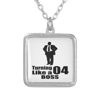 Turning 04 Like A Boss Silver Plated Necklace