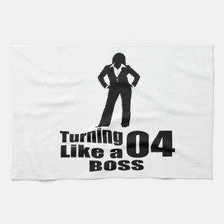 Turning 04 Like A Boss Tea Towel