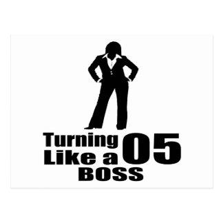 Turning 05 Like A Boss Postcard