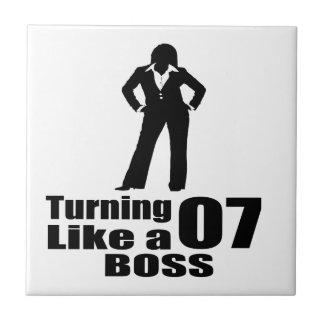 Turning 07 Like A Boss Tile
