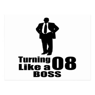 Turning 08 Like A Boss Postcard