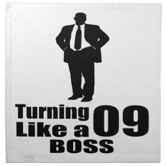 Turning 09 Like A Boss Napkin