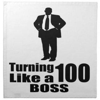 Turning 100 Like A Boss Napkin