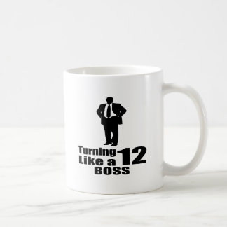 Turning 12 Like A Boss Coffee Mug