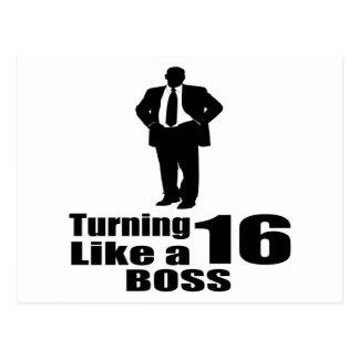 Turning 16 Like A Boss Postcard