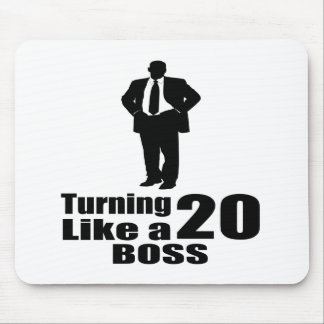 Turning 20 Like A Boss Mouse Pad