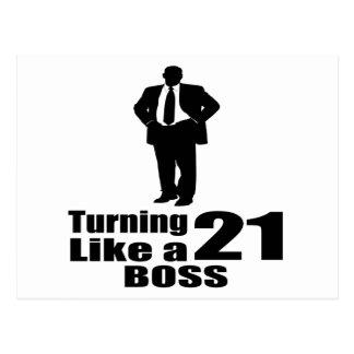 Turning 21 Like A Boss Postcard