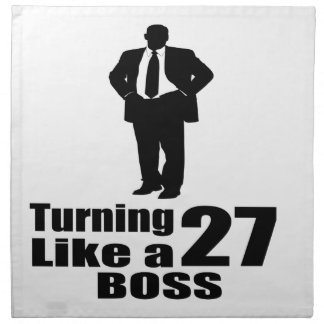 Turning 27 Like A Boss Napkin