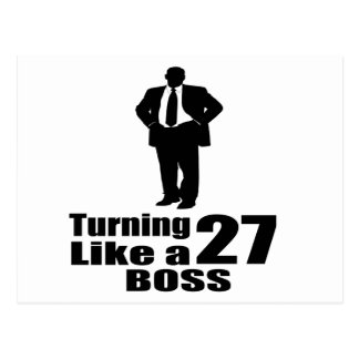 Turning 27 Like A Boss Postcard