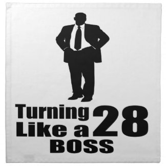 Turning 28 Like A Boss Napkin
