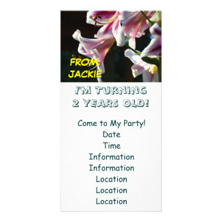 TURNING 2 Years Old! Birthday Party Invitations Photo Cards