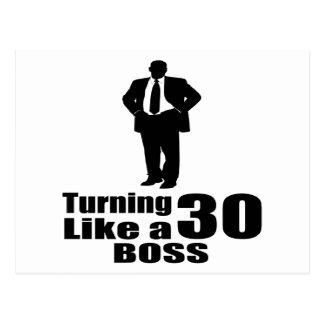 Turning 30 Like A Boss Postcard