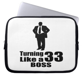 Turning 33 Like A Boss Laptop Sleeve