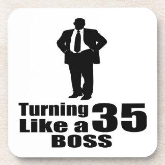 Turning 35 Like A Boss Coaster