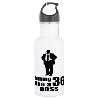 Turning 36 Like A Boss 532 Ml Water Bottle