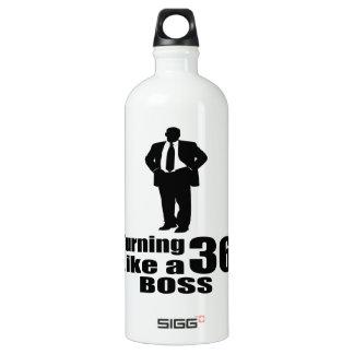 Turning 36 Like A Boss Water Bottle