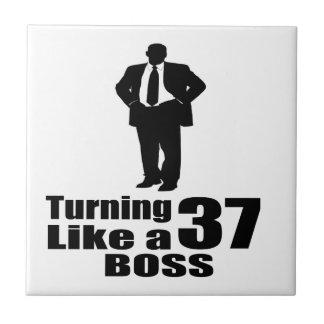 Turning 37 Like A Boss Ceramic Tile