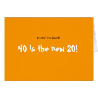 Turning 40 Celebration Card