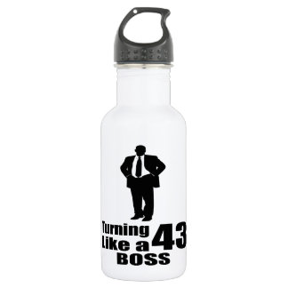 Turning 43 Like A Boss 532 Ml Water Bottle