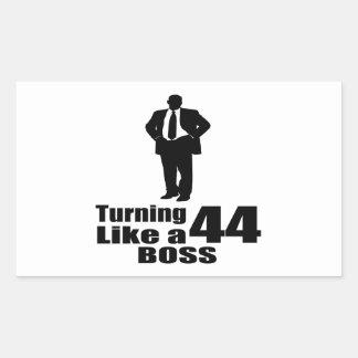 Turning 44 Like A Boss Rectangular Sticker