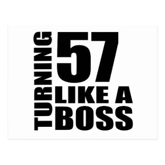 Turning 57 Like A Boss Birthday Designs Postcard