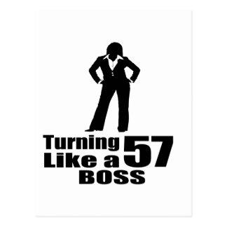 Turning 57 Like A Boss Postcard