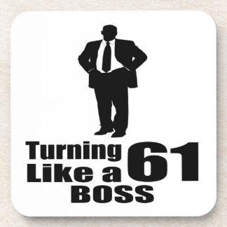 Turning 61 Like A Boss Coaster