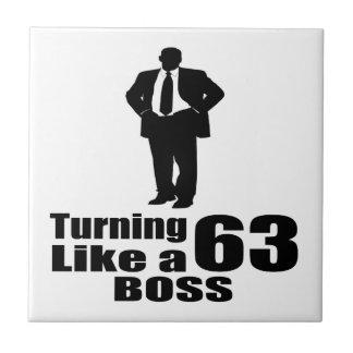 Turning 63 Like A Boss Tile