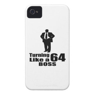 Turning 64 Like A Boss iPhone 4 Case-Mate Case