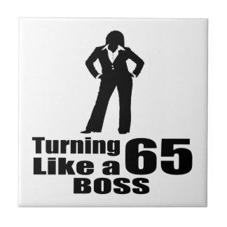 Turning 65 Like A Boss Tile