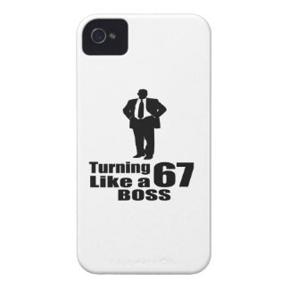 Turning 67 Like A Boss iPhone 4 Case