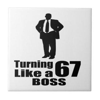 Turning 67 Like A Boss Tile