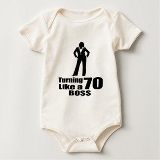 Turning 70 Like A Boss Baby Bodysuit