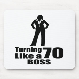 Turning 70 Like A Boss Mouse Pad