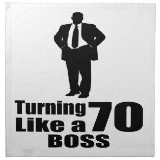Turning 70 Like A Boss Napkin