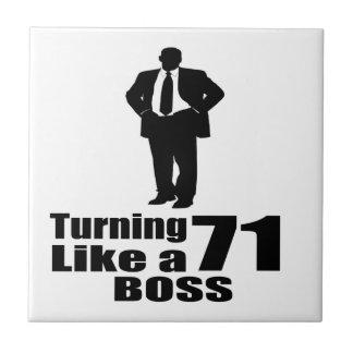 Turning 71 Like A Boss Ceramic Tile