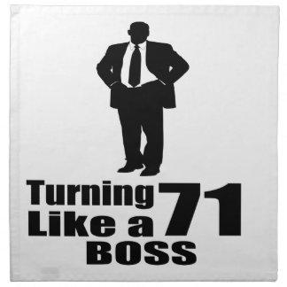 Turning 71 Like A Boss Napkin