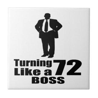 Turning 72 Like A Boss Tile