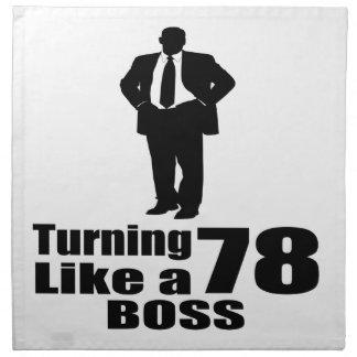 Turning 78 Like A Boss Napkin