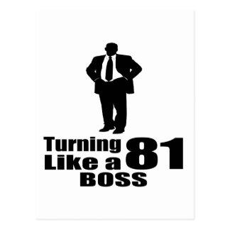Turning 81 Like A Boss Postcard