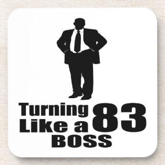 Turning 83 Like A Boss Coaster