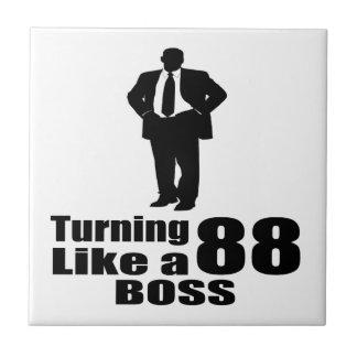 Turning 88 Like A Boss Ceramic Tile