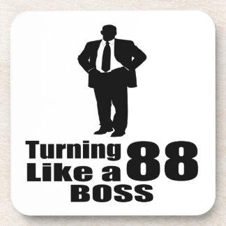 Turning 88 Like A Boss Coaster