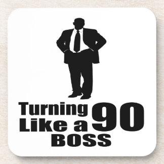 Turning 90 Like A Boss Coaster