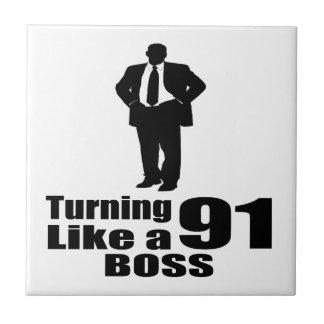 Turning 91 Like A Boss Tile