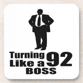 Turning 92 Like A Boss Coaster